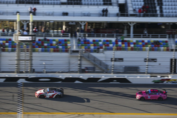 #28 RS1 Porsche Cayman GT4 MR, GS: Jan Heylen, Charlie Luck, Fred Poordad, #40 PF Racing Ford Mustang GT4, GS: James Pesek, Jade Buford, Patrick Gallagher