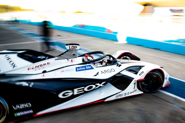 Jose Maria Lopez (ARG), GEOX Dragon Racing, Penske EV-3, drives out of the garage