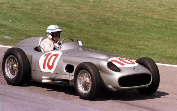 1998 San Marino Grand Prix. Imola, Italy.24-26 April 1998.John Surtees demonstrating the Mercedes-Benz W196.World Copyright - LAT Photographic