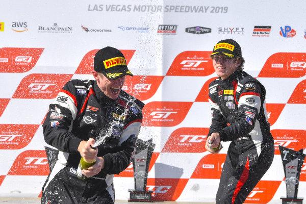 #60 MINI Cooper JCW of Nate Norenberg  with MINI JCW Team  Tomas Mejia  Tyler Maxson  2019 Blancpain GT World Challenge America - Las Vegas, Las Vegas NV