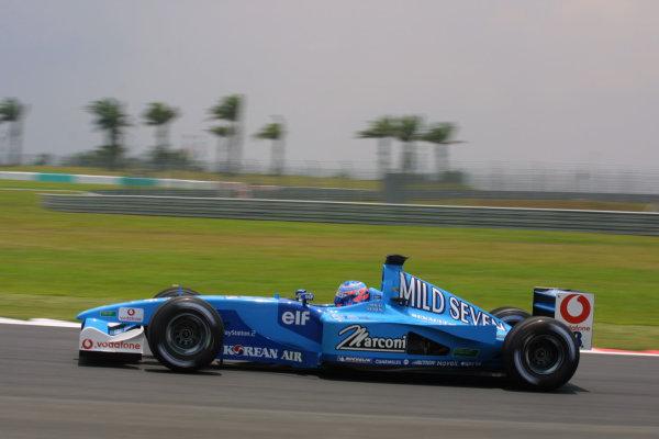2001 Malaysian Grand Prix.Sepang, Kuala Lumpur, Malaysia.16-18 March 2001.Jenson Button (Benetton B201 Renault).World Copyright - LAT PhotographicRef-8 9MB Digital