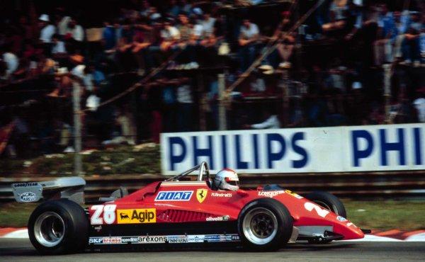 1982 Italian Grand Prix.Monza, Italy.10-12 September 1982.Mario Andretti (Ferrari 126C2), 3rd position.World Copyright - LAT Photographic