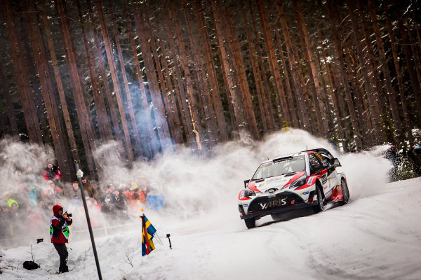 Jari-Matti Latvala (FIN) / Miikka Anttila (FIN), Toyota Gazoo Racing Toyota Yaris WRC at World Rally Championship, Rd2, Rally Sweden, Day Three, Karlstad, Sweden, 12 February 2017.