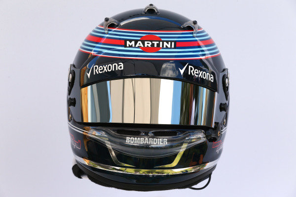 The helmet of Lance Stroll (CDN) Williams at Formula One World Championship, Rd1, Australian Grand Prix, Preparations, Albert Park, Melbourne, Australia, Thursday 23 March 2017.