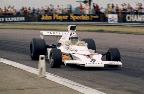 1973 British Grand Prix.Silverstone, England.12-14 July 1973.Peter Revson (McLaren M23 Ford) 1st position.World Copyright - LAT Photographic
