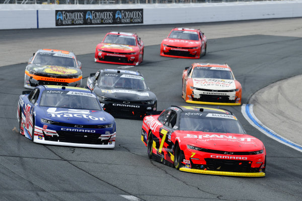 #7: Justin Allgaier, JR Motorsports, Chevrolet Camaro BRANDT, #10: Jeb Burton, Kaulig Racing, Chevrolet Camaro LS Tractors