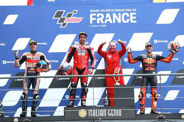 Alex Marquez, Repsol Honda Team Danilo Petrucci, Ducati Team Pol Espargaro, Red Bull KTM Factory Racing.