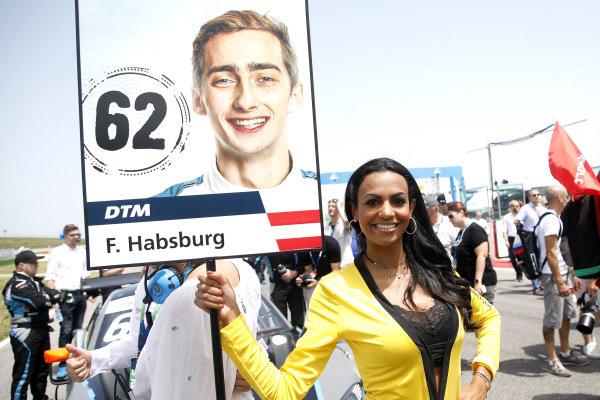 Grid girl of Ferdinand Habsburg, R-Motorsport.