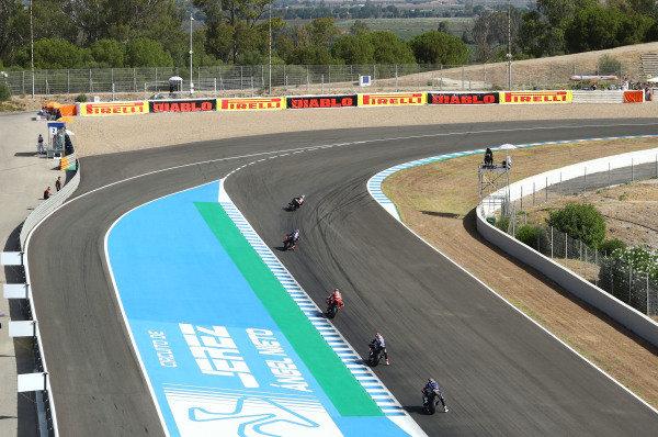 Jonathan Rea, Kawasaki Racing Team leads .