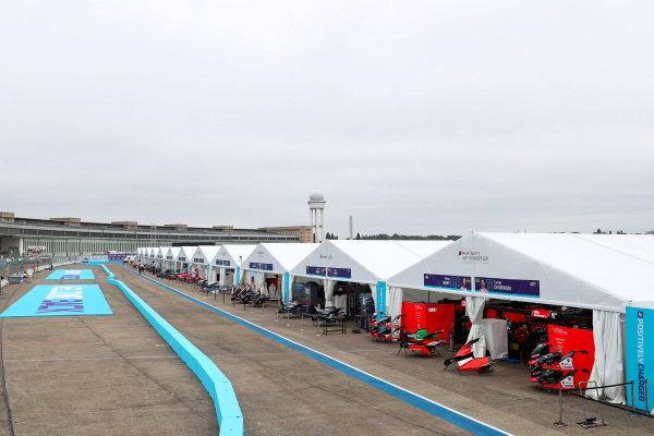 Formula E pitlane with Audi Sport ABT Schaeffler garage