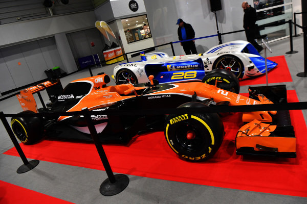 McLaren MCL32 at Autosport International, Day Two, NEC, Birmingham, England, Friday 12 January 2018.