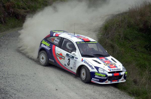 2001 World Rally Championship.Rally of New Zealand. September 20-23, 2001.Auckland, New Zealand.Carlos Sainz during shakedown.Photo: Ralph Hardwick/LAT