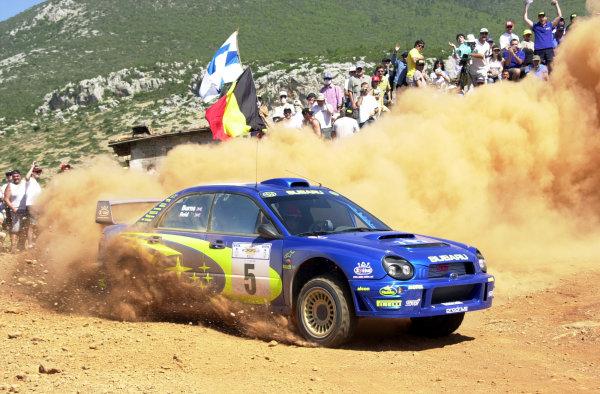 2001 World Rally Championship.Acropolis Rally June 14-17, 2001.Richard Burns on stage 1 during the first leg.Photo: Ralph Hardwick/LAT