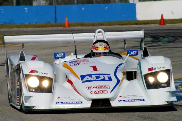 January 31-Feb. 3, 2005, SEBRING INTERNATIONAL RACEWAY  NO 1 AUDI R8, DRIVEN BY J.J. LEHTO, MARCO WERNER & ALLAN McNISH. -2005, GREG ALECK