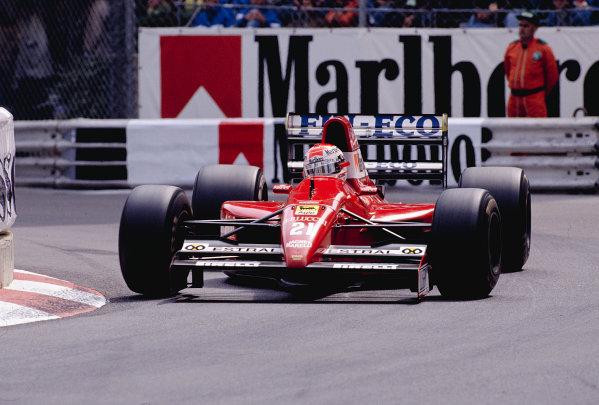 1991 Monaco Grand Prix.Monte Carlo, Monaco. 9-12 May 1991.Emanuele Pirro (Scuderia Italia/Dallara 191 Judd) 6th position.Ref-91 MON 46.World Copyright - LAT Photographic