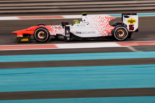 2017 FIA Formula 2 Test 3. Yas Marina Circuit, Abu Dhabi, United Arab Emirates. Saturday 2 December 2017. Louis Deletraz (CHE, MP Motorsport).  Photo: Zak Mauger/FIA Formula 2. ref: Digital Image _O3I6344