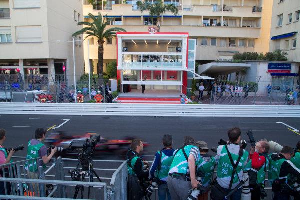2014/2015 FIA Formula E Championship. Podium.  Monaco ePrix Race. Monaco ePrix, Monte Carlo, Monaco, Europe. Saturday 9 May 2015  Photo: Adam Warner/LAT/Formula E ref: Digital Image _L5R1424