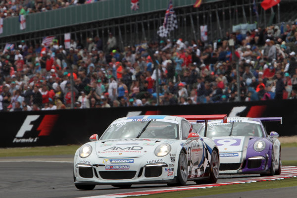 Porsche Supercup Round 4. Silverstone Circuit, Northamptonshire, England. Sunday 5th July 2015. Jake Hill (GBR) In2 Racing World Copyright: Jakob Ebrey/LAT Photographic