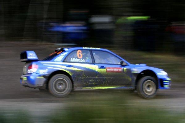2006 World Rally Championship.Round 16. Wales Rally GB. 1st - 3rd December 2006.Chris Atkinson/Glen Macneall, Impreza WRC 2006. Action.World Copyright: Alastair Staley/LAT Photographic.ref: Digital Image _F6E7132