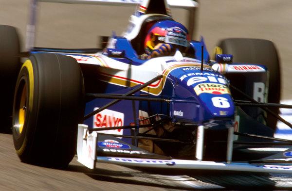 Hockenheim, German.26-28 July 1996.Jacques Villeneuve (Williams FW18 Renault) 3rd position.Ref-96 GER 23.World Copyright - LAT Photographic