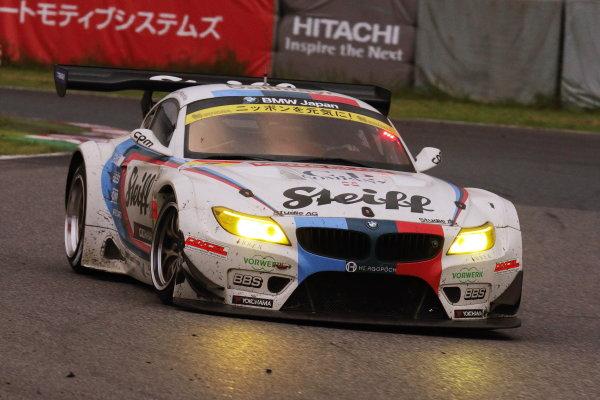2015 Japanese Super GT Series.  Suzuka, Japan. 30th August 2015. Rd 5. GT300 2nd position Jorg Muller & Seiji Ara ( #7 Studie BMW Z4 ) action World Copyright: Yasushi Ishihara/LAT Photographic. ref: Digital Image 2015SGT_Rd5_019
