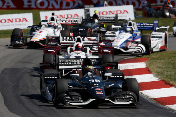 31 July - 2 August, 2015, Lexington, Ohio, USA Gabby Chaves, Juan Pablo Montoya, Will Power, Marco Andretti © 2015, Michael L. Levitt LAT Photo USA