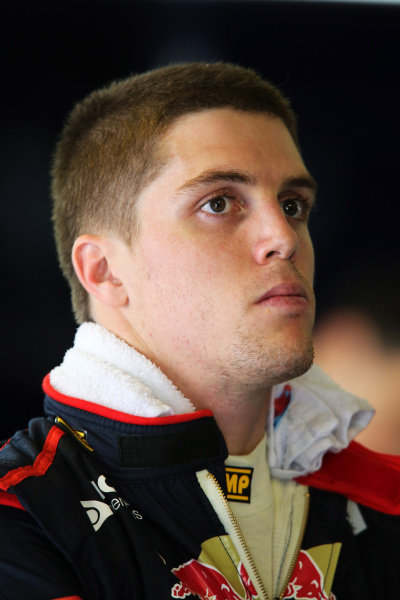 Luiz Razia (BRA) Scuderia Toro Rosso. Formula One Young Drivers Test, Day Three, Yas Marina Circuit, Abu Dhabi, UAE, Thursday 8 November 2012.