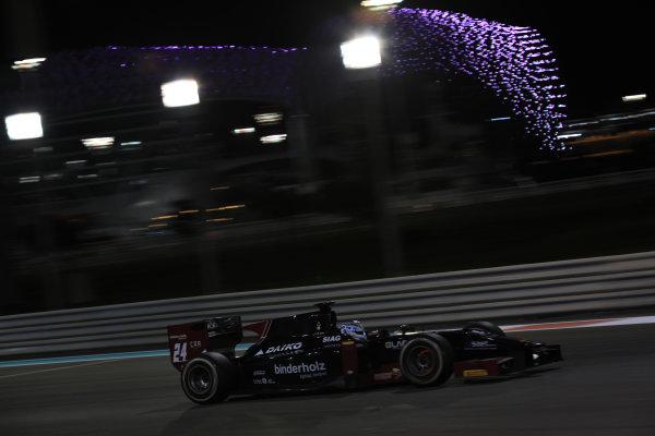 2013 GP2 Series Test 3 Yas Marina Circuit, Abu Dhabi, UAE. Day 3, Thursday 7th November 2013. Dani Clos (ESP, Venezuela GP Lazarus)  World Copyright: Sam Bloxham/LAT Photographic. ref: Digital Image IMG_5878