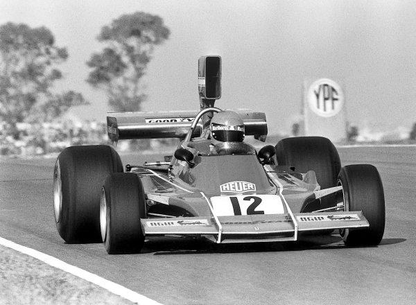 Buenos Aires, Argentina. 13th January 1974.Niki Lauda (Ferrari 312B3), 2nd position, action. World Copyright: LAT Photographic.Ref:  B/WPRINT.
