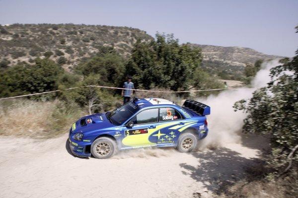 2005 World Rally ChampionshipCyprus Rally, Limassol, Cyprus. 13th - 15th May 2005.Petter Solberg (Subaru Impreza WRC 05), action.World Copyright: McKlein/LAT Photographicref: Digital Image
