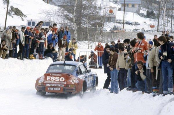 1980 World Rally Championship.Monte Carlo Rally, Monaco. 19-25 January 1980.Hannu Mikkola/Arne Hertz (Porsche 911 SC Carrera), retired.World Copyright: LAT PhotographicRef: 35mm transparency 80RALLY14