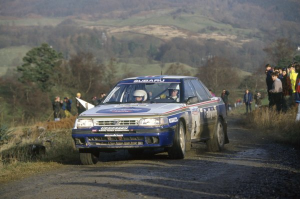 1992 World Rally Championship.Lombard RAC Rally, Great Britain. 22-25 November 1992.Colin McRae/Derek Ringer (Subaru Legacy RS), 6th position.World Copyright: LAT PhotographicRef: 35mm transparency 92RALLY19