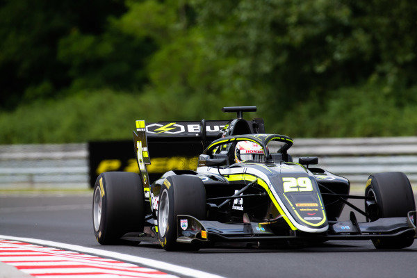 HUNGARORING, HUNGARY - AUGUST 02: Teppei Natori (JPN, Carlin Buzz Racing) during the Hungaroring at Hungaroring on August 02, 2019 in Hungaroring, Hungary. (Photo by Joe Portlock / LAT Images / FIA F3 Championship)