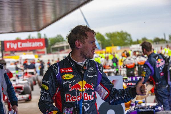 Sebastian Vettel in Parc Ferme.