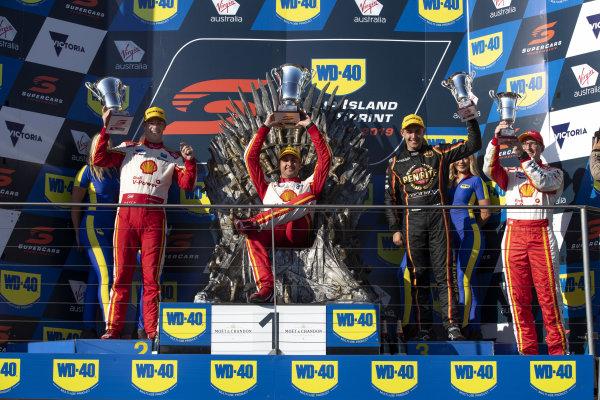 Scott McLaughlin, DJR Team Penske Ford, Fabian Coulthard, DJR Team Penske Ford, Anton De Pasquale, Erebus Motorsport Holden