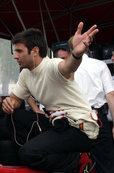 2002 Miami CART, 6 October, 2002, Miami, Florida, USA.Christian Fittipaldi checks to see if it's still raining-2002, Lesley Ann Miller, USALAT Photographic