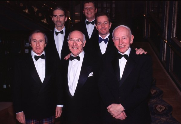 Murray Walker Dinner, Cafe Royal, London, 23rd November 2001.Murray Walker is paid tribute by Sir Jackie Stewart, John Surtees, Damon Hill and Martin Brundle.World Copyright: Clive Rose/LAT Photographic