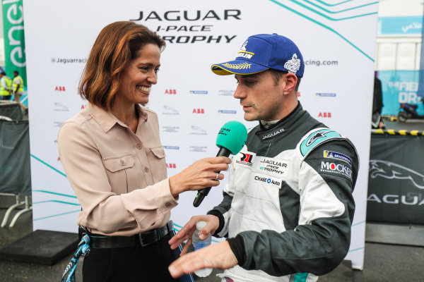 Presenter Amanda Stretton interviews Bryan Sellers (USA), Rahal Letterman Lanigan Racing