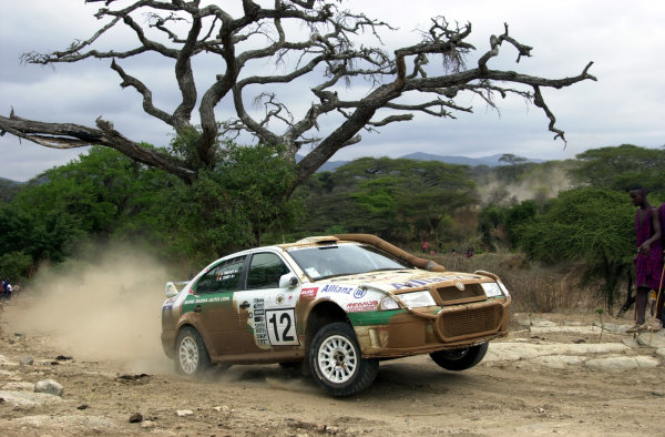 2001 World Rally Championship.Nairobi, Kenya. July 20-22, 2001Bruno Thiry on the final leg before crashing out.Photo: Ralph Hardwick/LAT