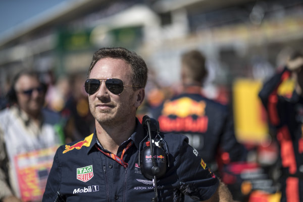 Christian Horner (GBR) Red Bull Racing Team Principal on the grid at Formula One World Championship, Rd17, United States Grand Prix, Race, Circuit of the Americas, Austin, Texas, USA, Sunday 22 October 2017.