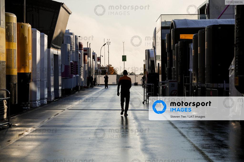 McLaren team member in the paddock