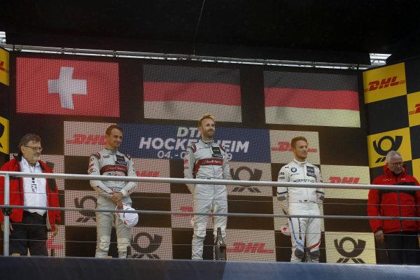 Champion ship Podium: Champion René Rast, Audi Sport Team Rosberg. second place Nico Müller, Audi Sport Team Abt Sportsline, third place Marco Wittmann, BMW Team RMG.