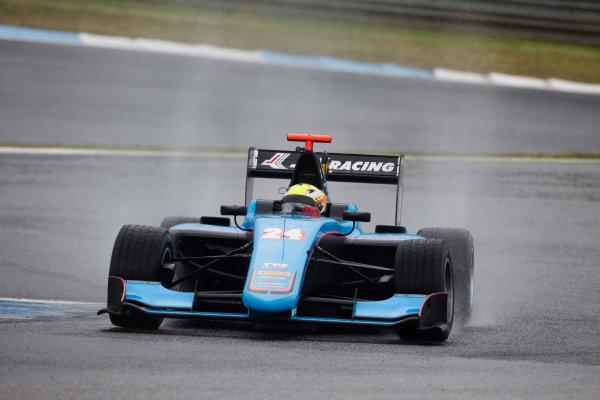 2017 GP3 Series Testing Estoril, Portugal. Wednesday 22 March 2017 Arjun Maini (IND, Jenzer Motorsport). Action.  Photo: Alastair Staley/GP3 Series Media Service ref: Digital Image 585A1267