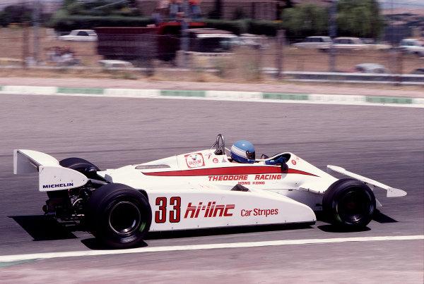 1981 Spanish Grand Prix.Jarama, Spain.29-31 May 1981.Patrick Tambay (Theodore TY01 Ford).Ref-81 ESP 40.World Copyright - LAT Photographic