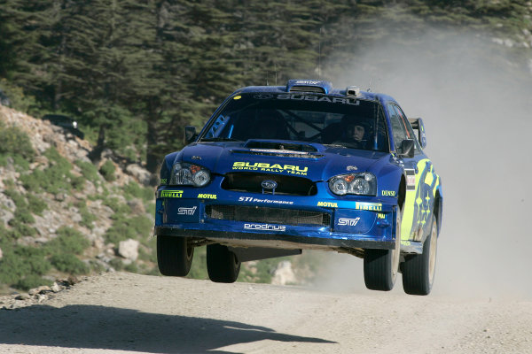 2004 FIA World Rally Champs. Round seven, Rally Turkey.24th- 27th June 2004.Mikko Hirvonen, Subaru, action.World Copyright: McKlein/LAT