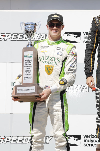 Spencer Pigot, Ed Carpenter Racing Chevrolet, podium