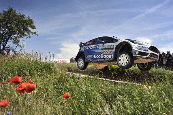 Ott Tanak (EST) / Raigo Molder (EST) Ford Fiesta RS WRC at FIA World Rally Championship, Rd7, Lotos 71st Rally Poland, Day Two, Mikolajki, Poland, Saturday 4 July 2015.