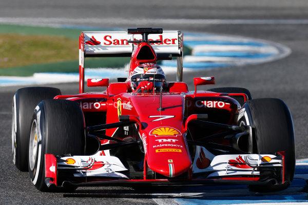 2015 F1 Pre Season Test 1 - Day 1 Circuito de Jerez, Jerez, Spain. Wednesday 04 February 2015. Kimi Raikkonen, Ferrari SF15-T. World Copyright: Alastair Staley/LAT Photographic. ref: Digital Image _R6T1076