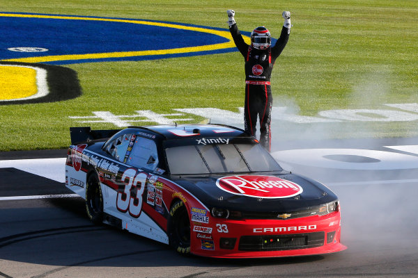 6-7 March, 2015, Las Vegas, Nevada USA Austin Dillon celebrates his win ?2015, Russell LaBounty LAT Photo USA