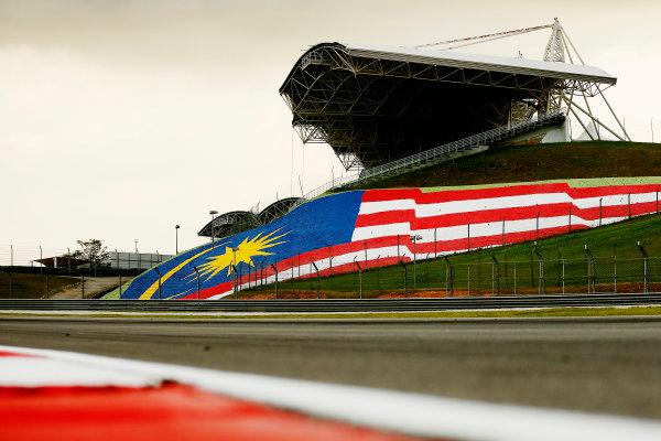 Sepang International Circuit, Sepang, Kuala Lumpur, Malaysia. Thursday 26 March 2015. Malaysian flag in the gravel. World Copyright: Alastair Staley/LAT Photographic. ref: Digital Image _79P0933
